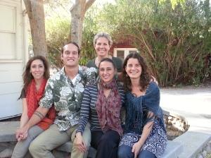 L to R: Aviva Shira Bernat, George Kamana Hunter, Dina Bernat-Kunin, Anna Molitor, (back) Jessica Gelson